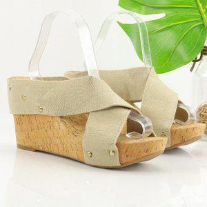 Lucky Brand Miller Sandal Platform Elastic Straps